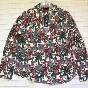 NWT Boohoo botanical floral blazer sz 8